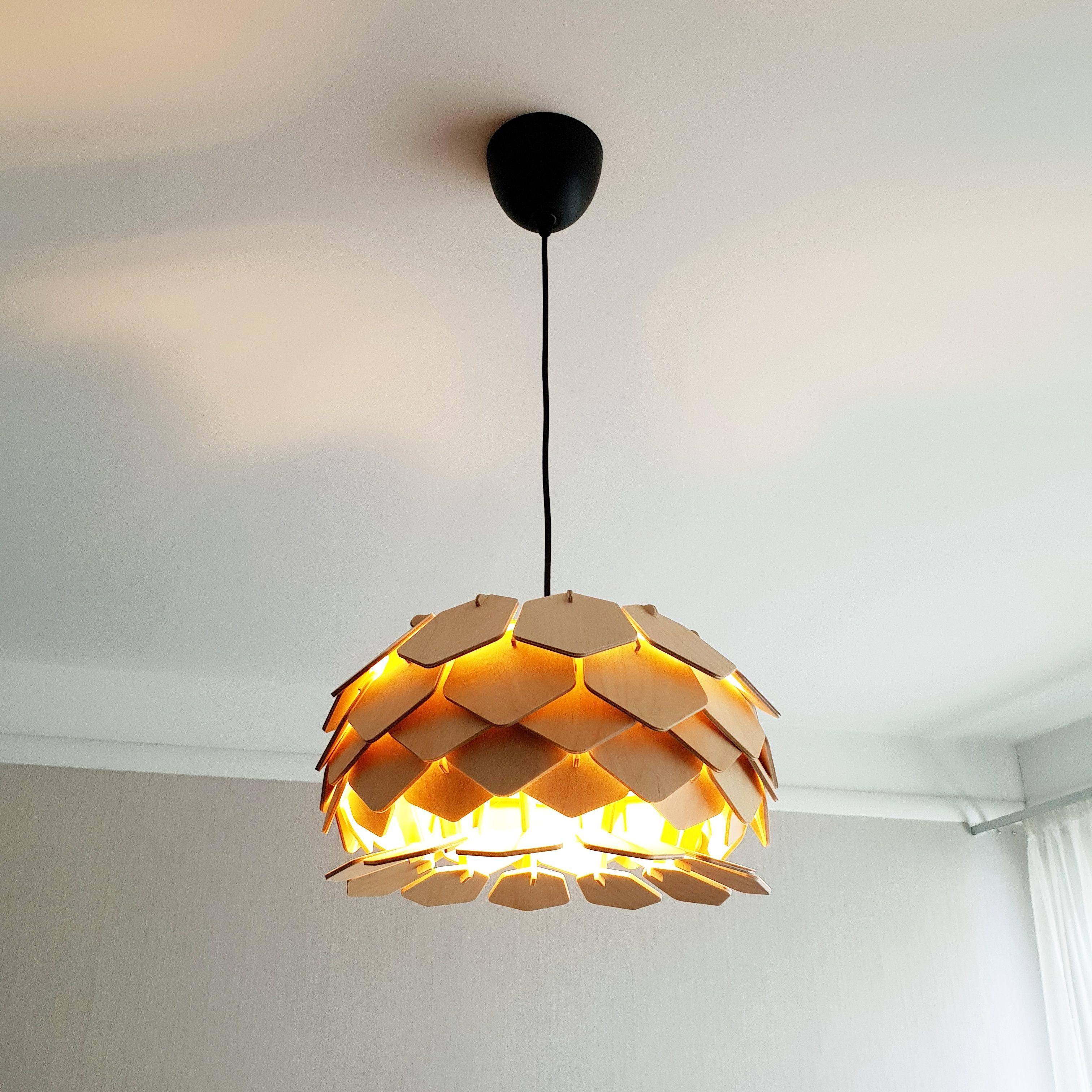 Chill Light Wood Lamp Wooden Lamp Shade Hanging Lamp