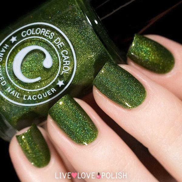 Colores de Carol Emerald Nail Polish - holographic emerald green ...