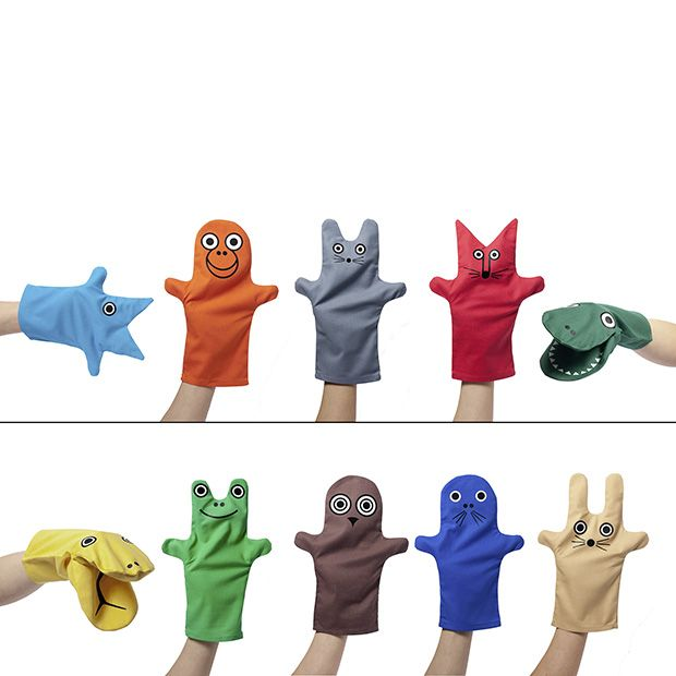 """""""Tenimals"""" - creative and colourful hand puppet toys. visit www.afilii.de"""