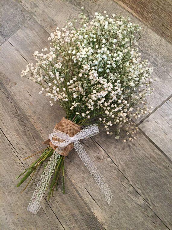 Dried baby's breath wedding bouquet, white flower bride, country wedding, dried flower, diy wedding, barn wedding, gyp, inexpensive wedding