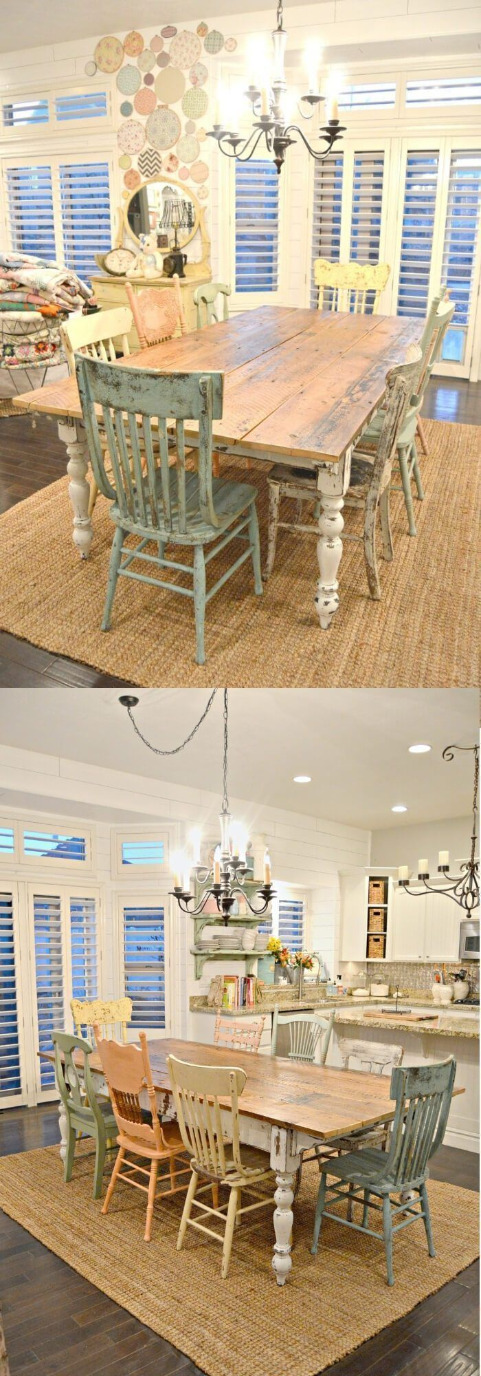 Most Popular Farmhouse Style Dining Room Design Ideas #dinningroom #Decorating #... - New house ,  #Decorating #Design #Dining #dinningroom #Farmhouse #house #Ideas #Popular #Room #style