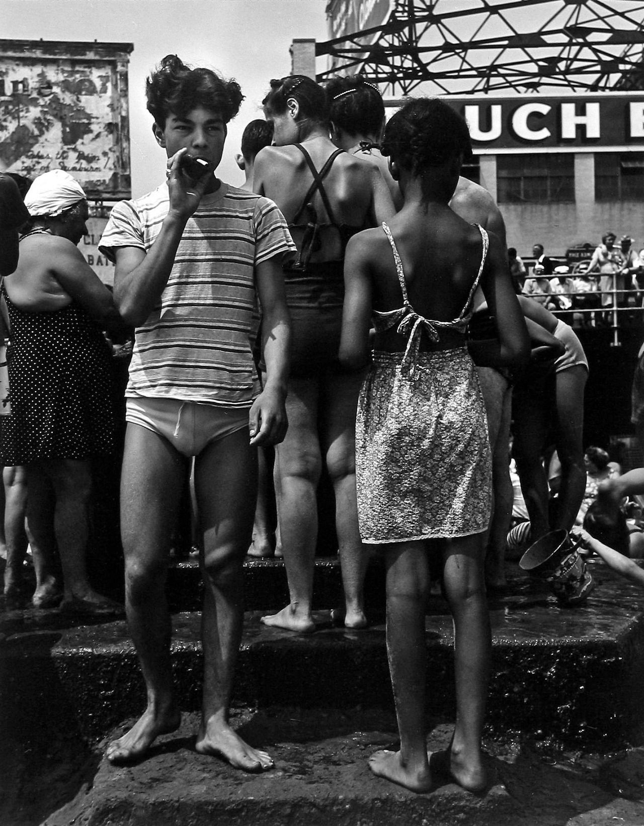 Smoking, Coney Island, Photo by Morris Engel, 1948