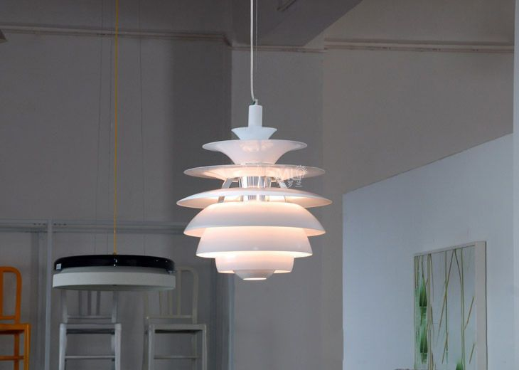 Artichoke white designer style ceiling pendant light fitting lamp chandelier