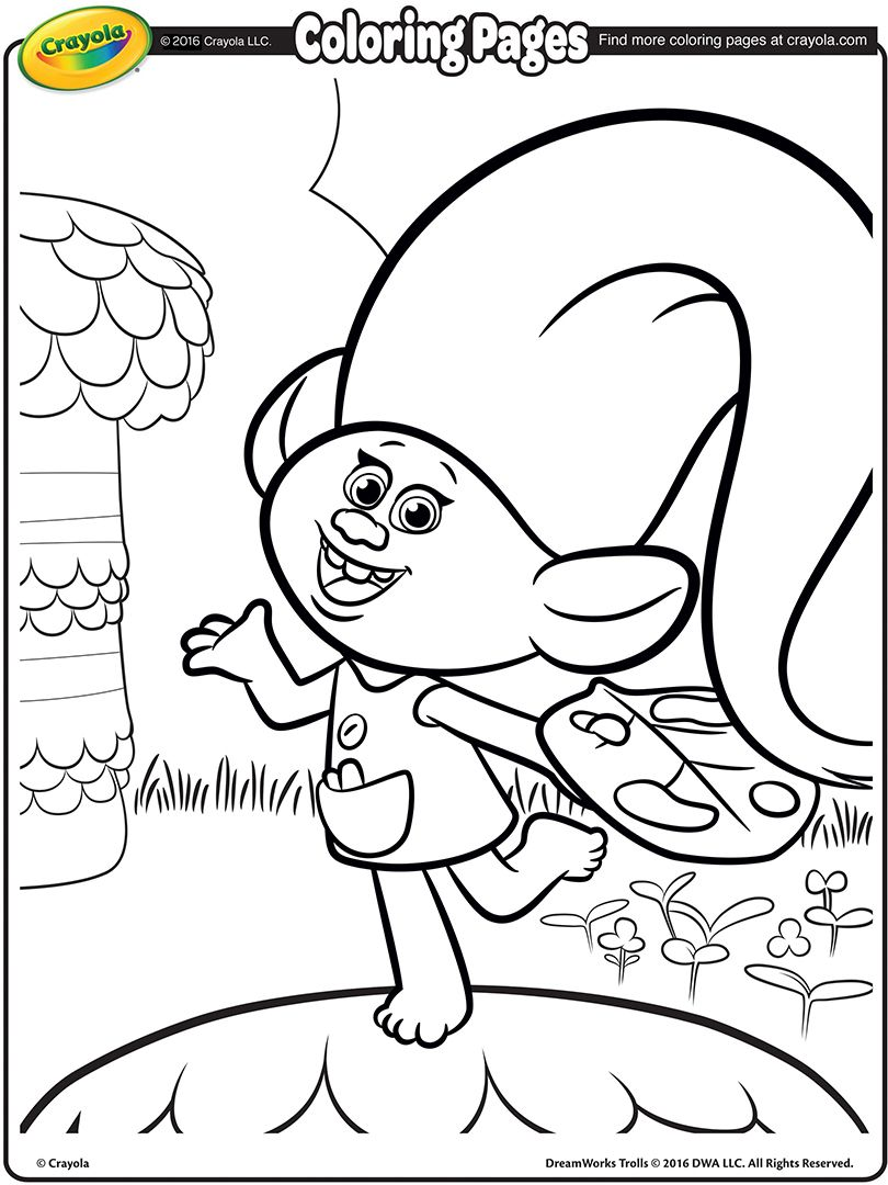 dreamworks trolls coloring pages 01 birthday ideas pinterest