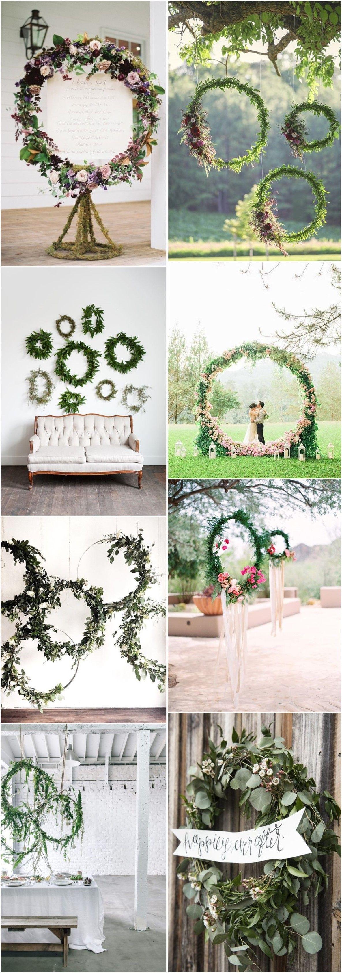 Diy decorations for wedding  Top  Greenery DIY Wedding Wreath Ideas Worth Stealing  Wedding