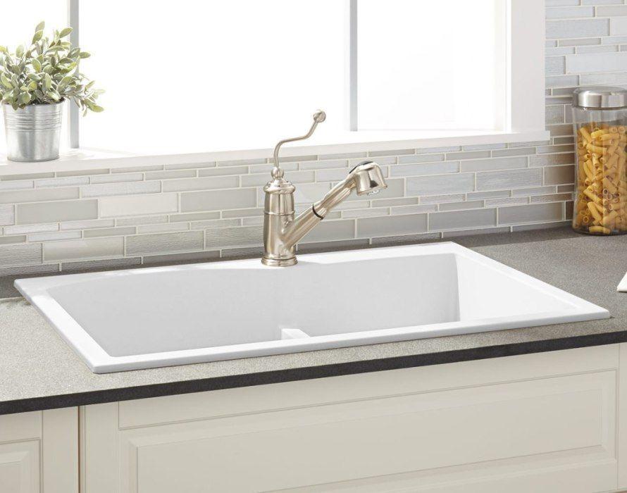 Drop In Porcelain Kitchen Sink | Kitchen Ideas#drop #ideas