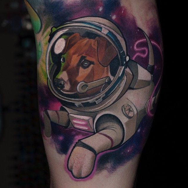 dog astronaut tattoo - photo #9