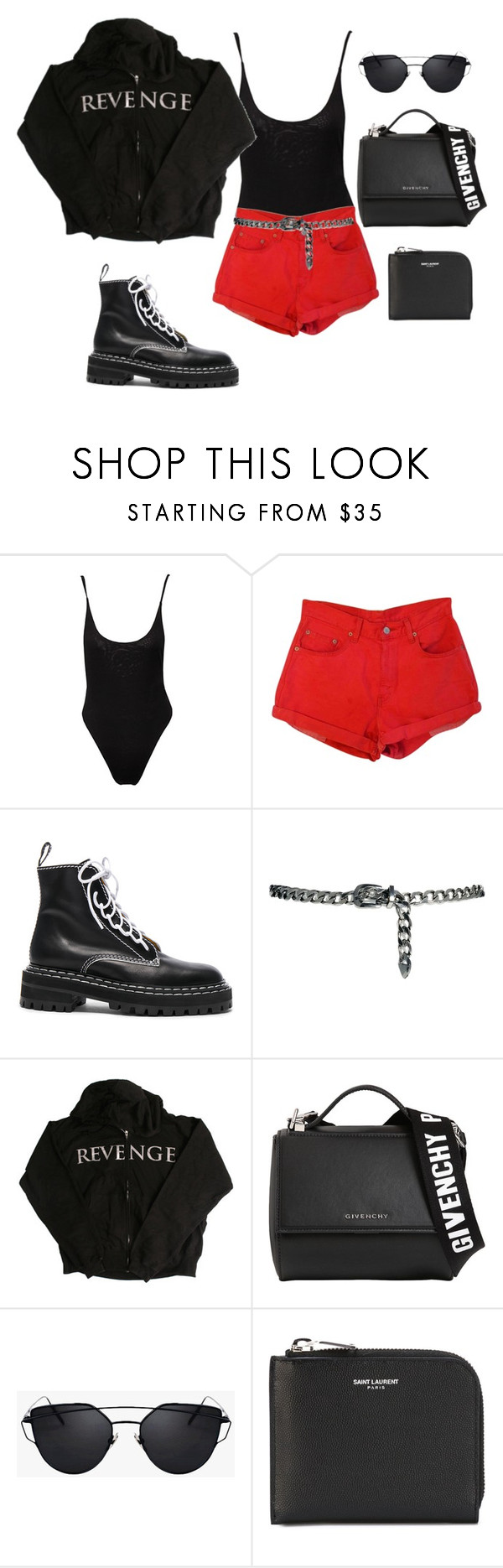"""""""Untitled #5567"""" by lilaclynn ❤ liked on Polyvore featuring Proenza Schouler, MANGO, Givenchy and Yves Saint Laurent"""