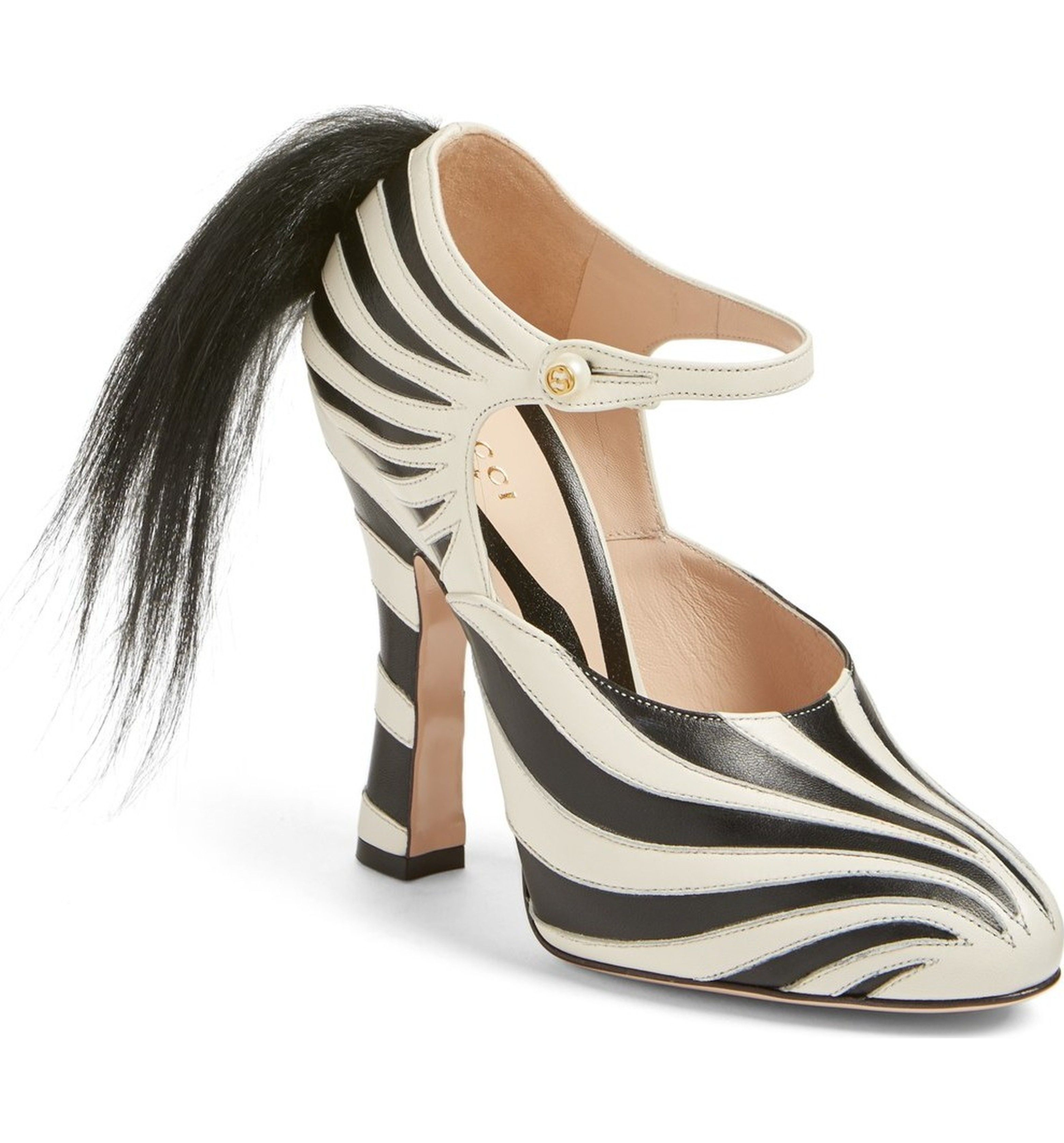 Main Image - Gucci 'Lesley' Zebra Stripe Pump (Women)