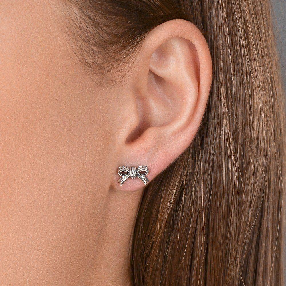 ecc60500c3417 PANDORA EARRINGS SPARKLING BOW, CLEAR CZ. #PANDORA #PANDORAearring ...