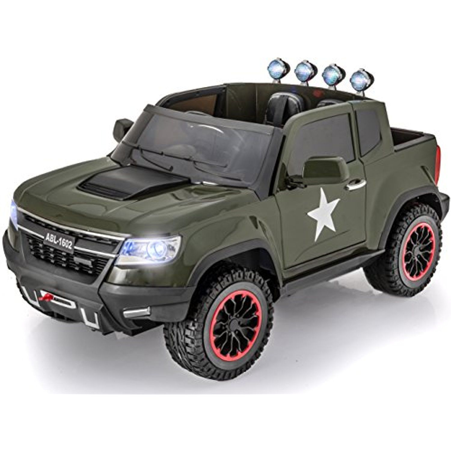 a7cfff67dfe90 Exclusive ARMY Edition 4x4 Big GM Chevy Heavy Duty Style Kids Ride on  Truck