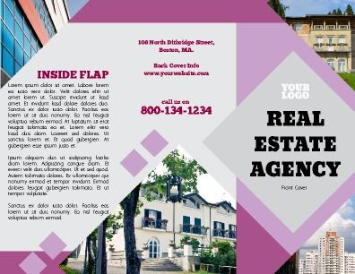 Outside Tri Fold Real Estate Brochure Perfect For Real Estate