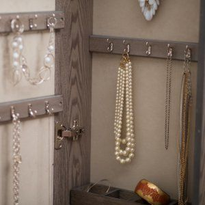 33++ Wall mounted locking mirrored jewelry armoire driftwood ideas