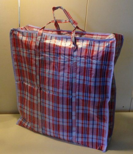 Chinese Laundry Bags. Set of 4 Extra-Large Plastic Checkered Storage Laundry Shopping Bags W. Zipper u0026 Handles Size 23 x23 x5 . & Chinese Laundry Bags. Set of 4 Extra-Large Plastic Checkered Storage ...