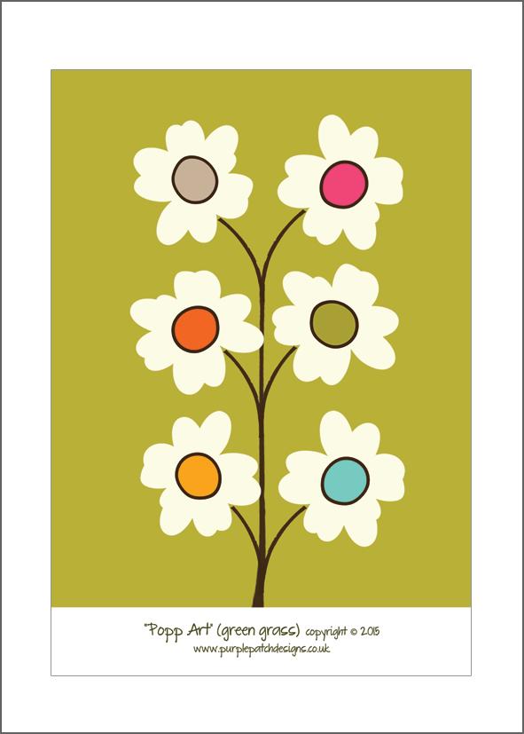 Popp Art (green grass) | Art Print Cards - Poppies | Pinterest ...