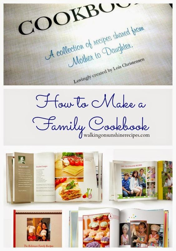 how to make a family cookbook family reunion pinterest family