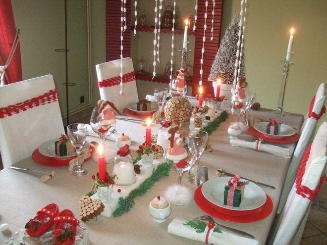 des id es pour une table de no l traditionnelle l 39 esprit de no l noel table de no l et. Black Bedroom Furniture Sets. Home Design Ideas