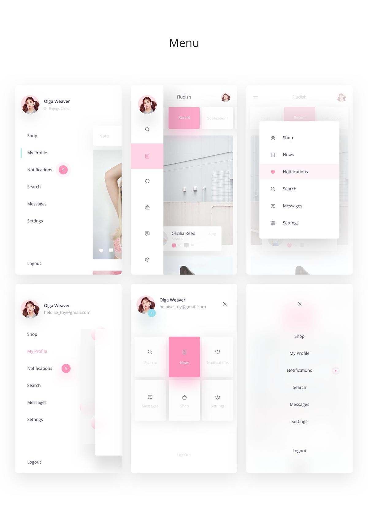 Fluent iOS UI Kit designed for Sketch Fludish Sketch UI Kit