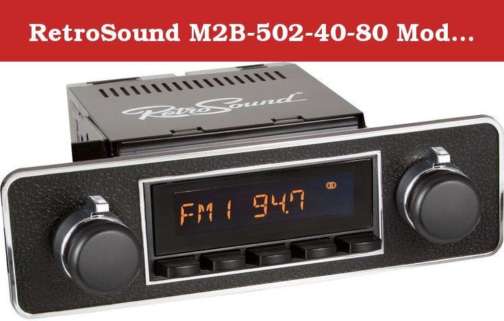 RetroSound M2B-502-40-80 Model Two Direct-Fit Radio for Cla