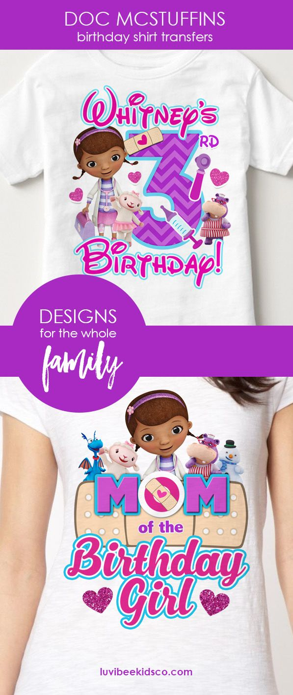 Shop Doc McStuffins themed shirt designs for the entire family ...