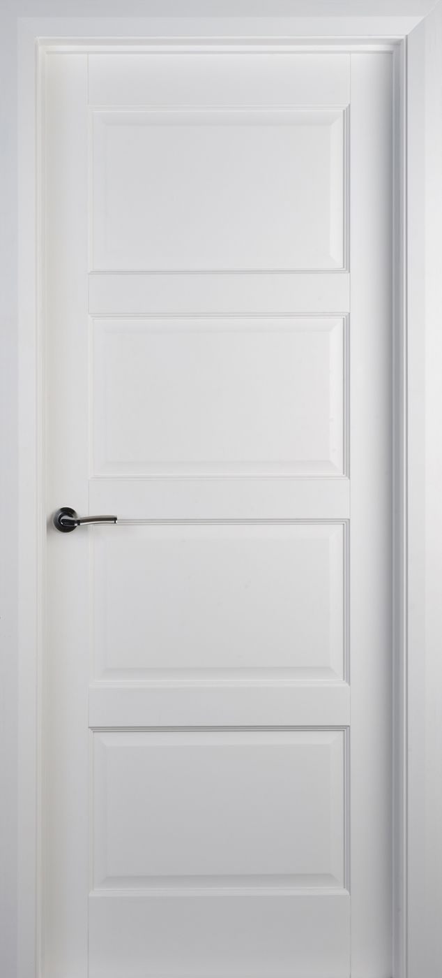 Modern White Interior Doors contemporary 4 panel white primed door (40mm) | internal doors