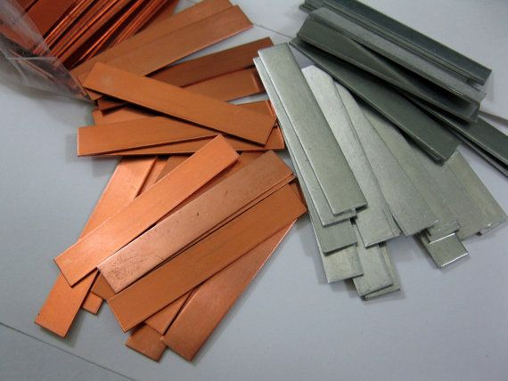 4 Metal Strips For Stamping 1 4 X 1 1 2 Copper Or Aluminum Ready To Ship Stamp Metal Metal Stamping