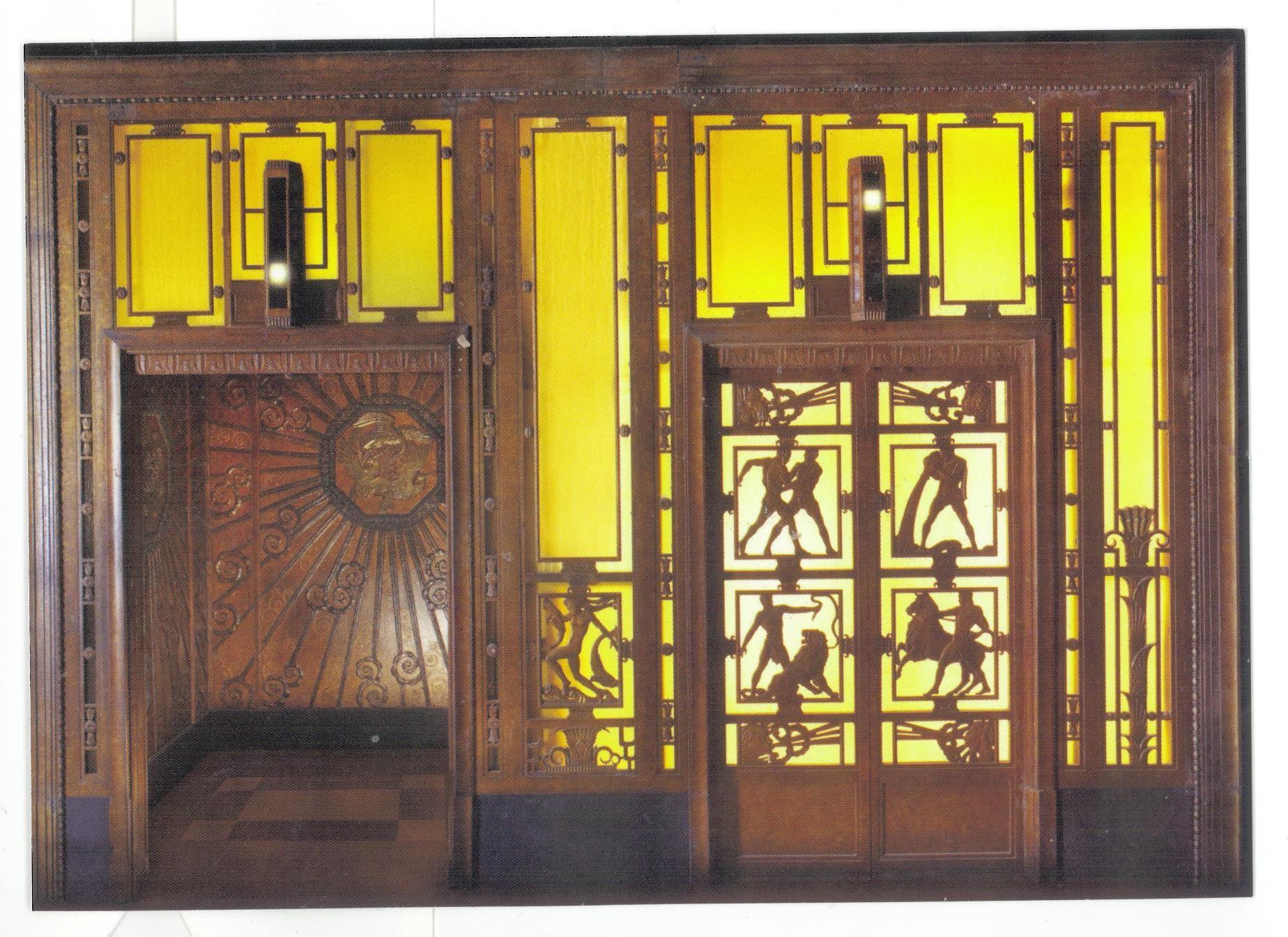 Selfridges store lift 1928 by edgar william brandt