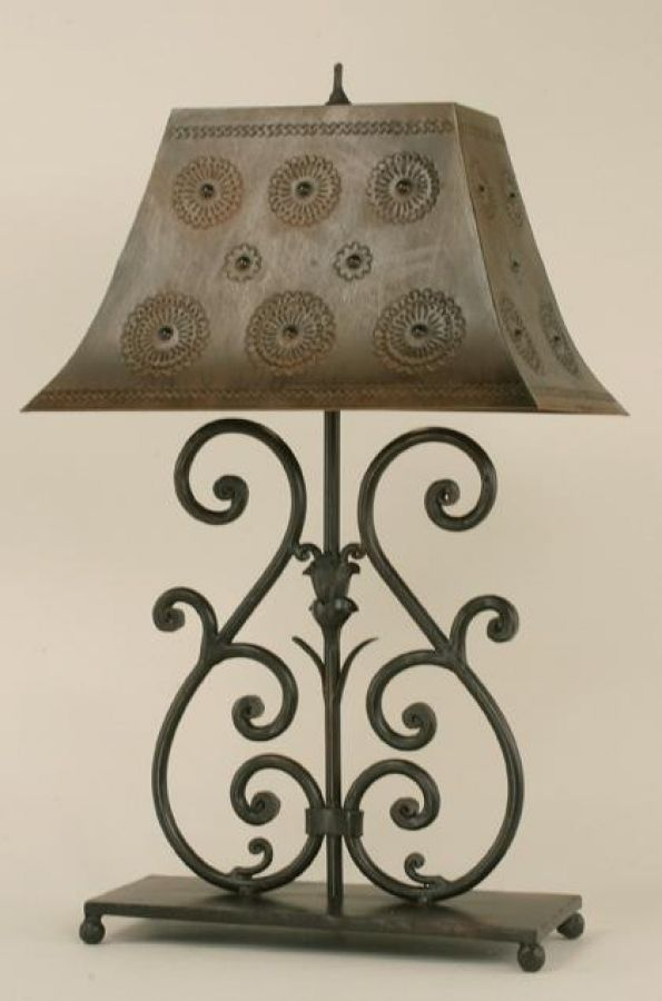 Botanica Wrought Iron Table Lamp