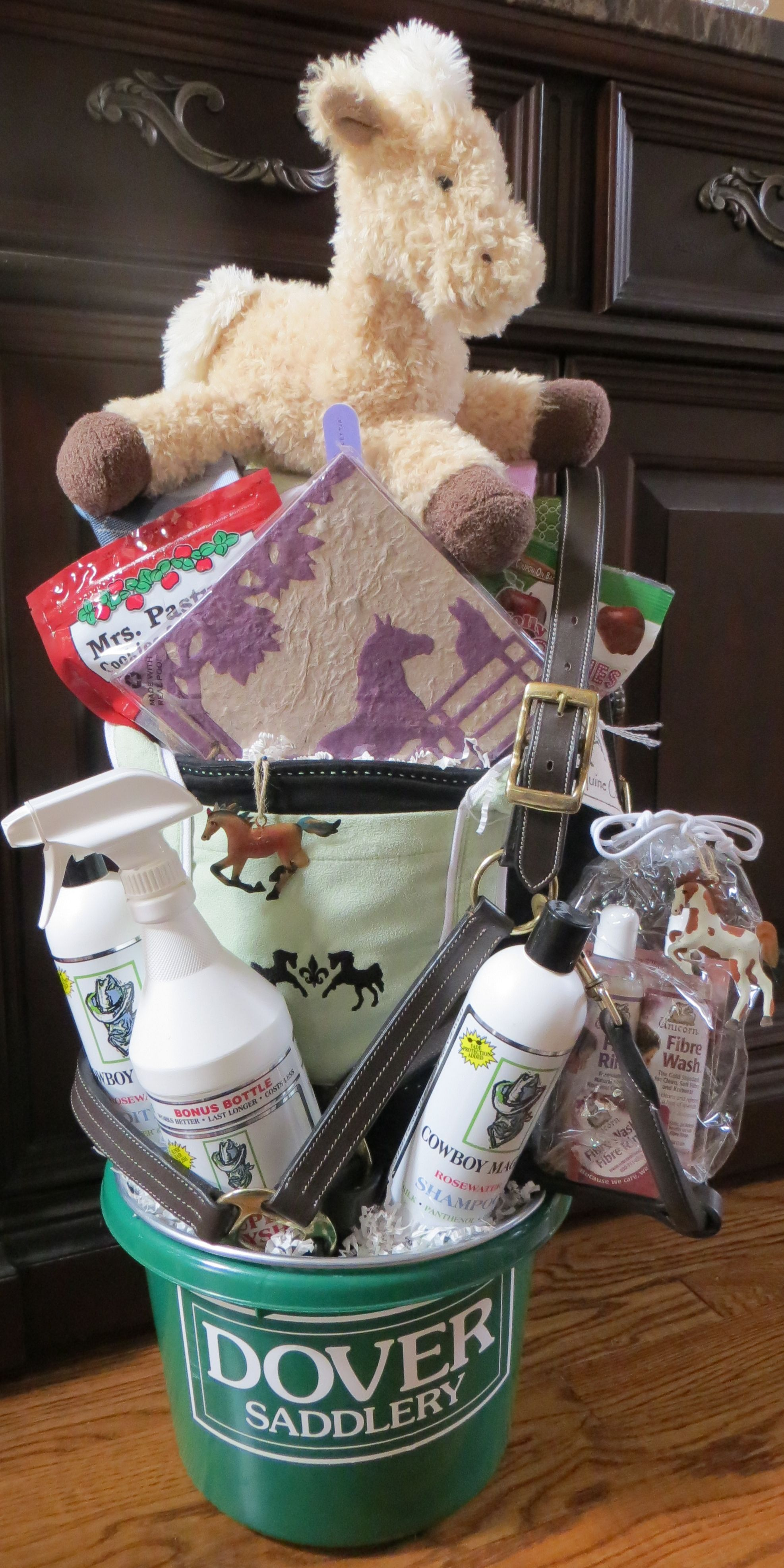 Desktop diy wedding gift basket of high resolution horse lover complete with grooming supplies equipment