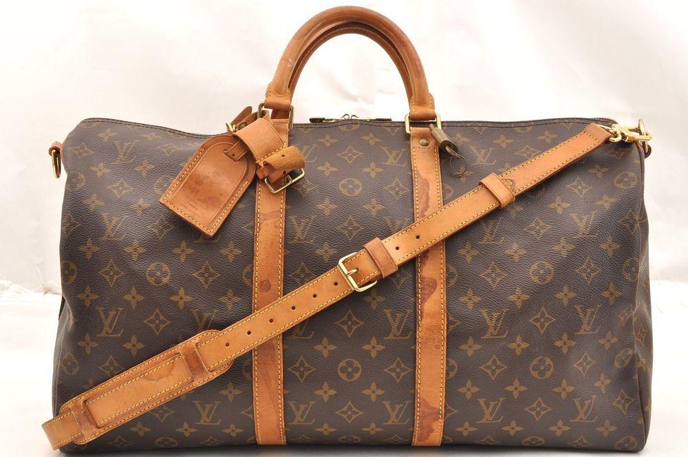 abfb91a1d9c6 Auth Louis Vuitton Monogram Keepall Bandouliere 50 Boston Bag M41416 LV  62033  fashion  clothing  shoes  accessories  womensbagshandbags (ebay link)