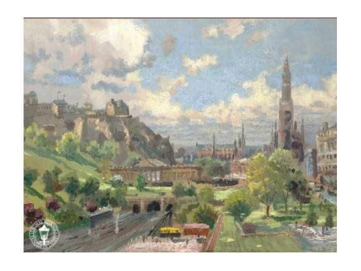 Thomas Kinkade Edinburgh Scotland Painting Limited Edition Canvas
