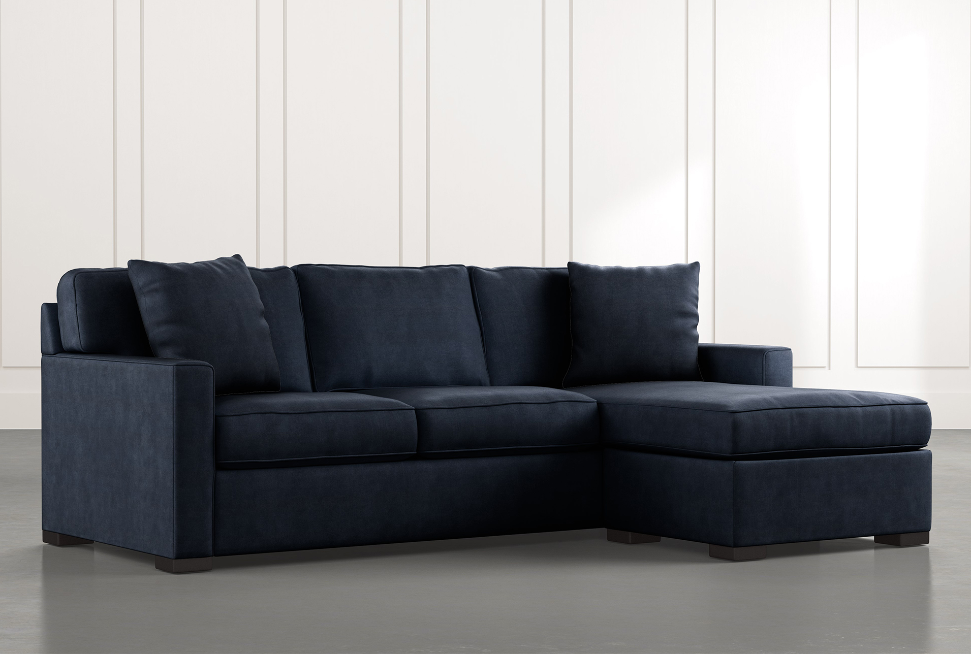 Taren Ii Navy Blue Reversible Sofa Chaise Sleeper W Storage Ottoman Chaise Sofa Storage Ottoman Sectional Sofa