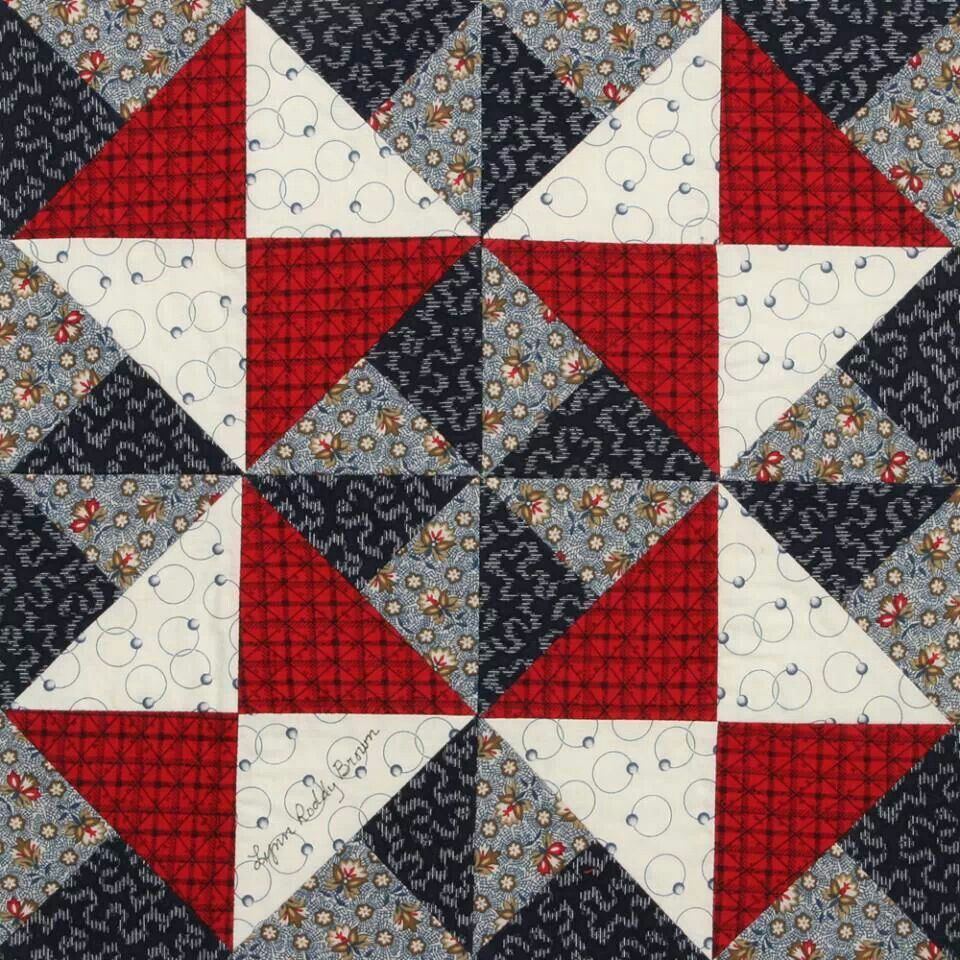Spinning Star block from Quiltmaker 100 Blocks Vol. 2