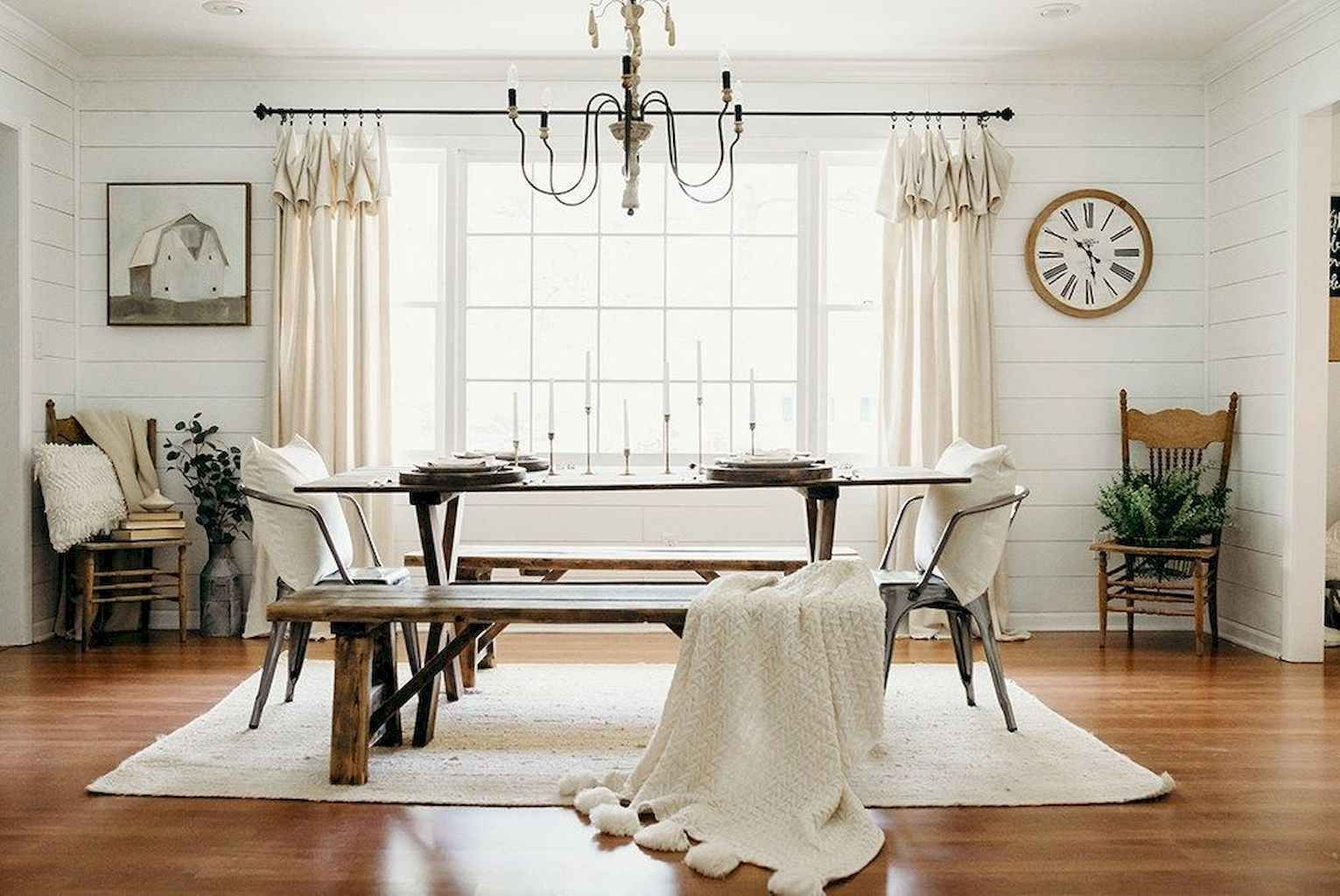 85 Beautiful Farmhouse Living Room Curtains Decor Ideas ... on Farmhouse Dining Room Curtain Ideas  id=54593