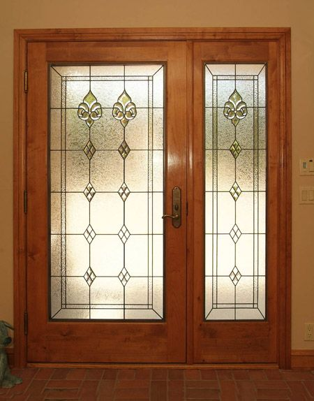 Stained Glass Door And Side Panels