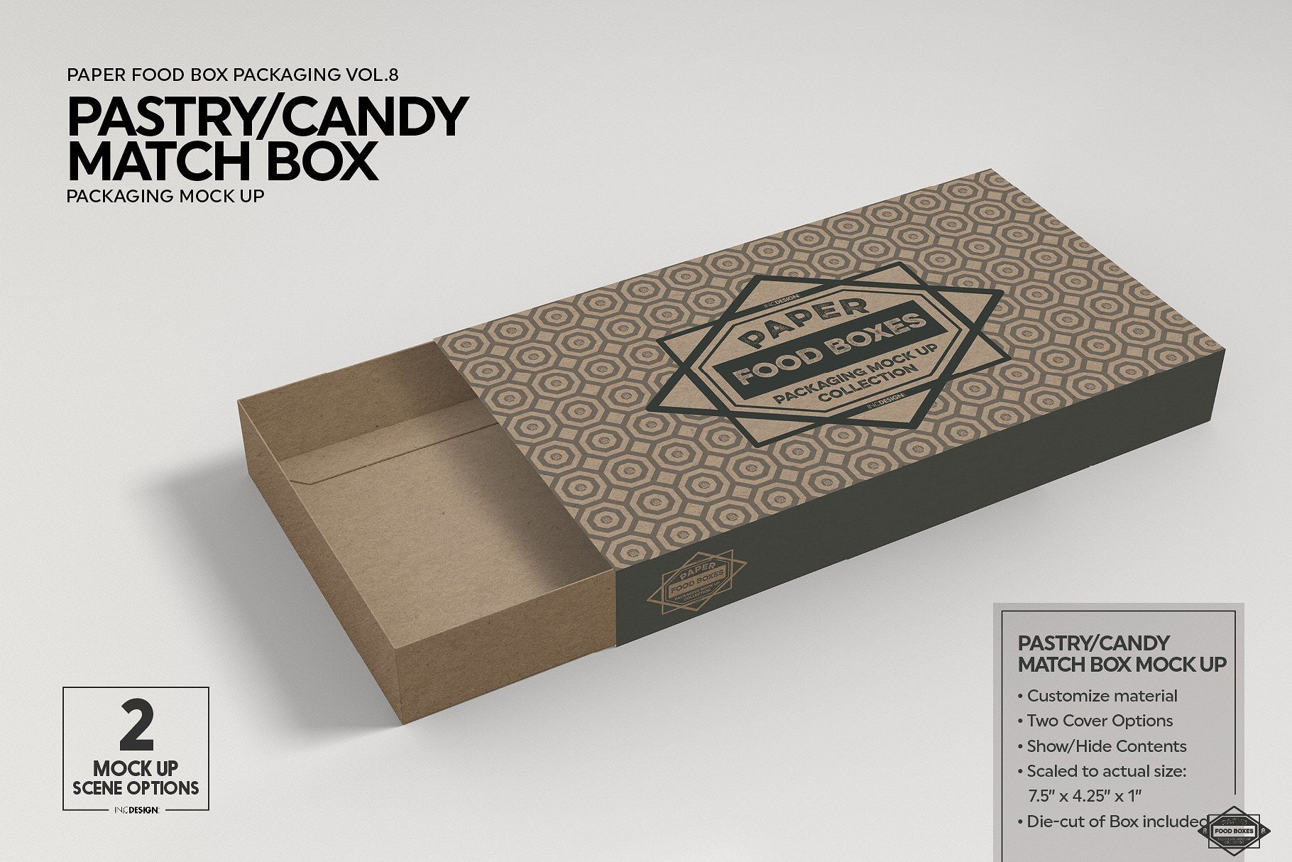 Download Match Box Style Packaging Mockup Packaging Mockup Free Packaging Mockup Food Box Packaging