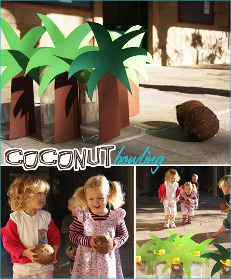 Beach Theme Card Stock: Chicka Chicka Boom Boom Coconut Bowling If We Did