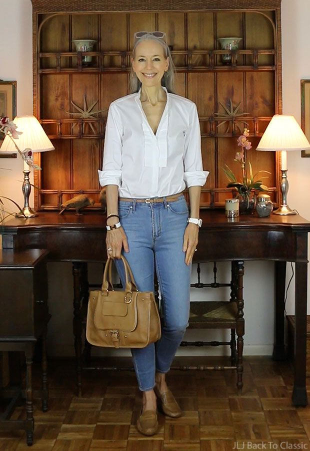 """Photo of (Video) On Being """"Fiercely"""" Authentic; Plus My High-Waist Skinny Jeans, Pleated Ruffle Shirt OOTD / Classic Fashion Over 40, 50"""