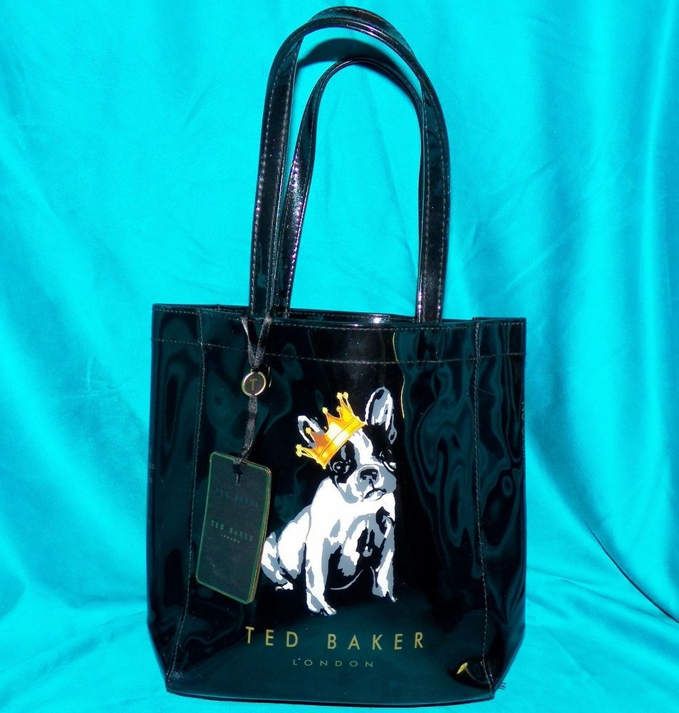 0ee85137e4e1b Ted Baker London Roycon King Cotton French Bulldog Black Patent Tote  Shopper Bag  PoloRalphLauren