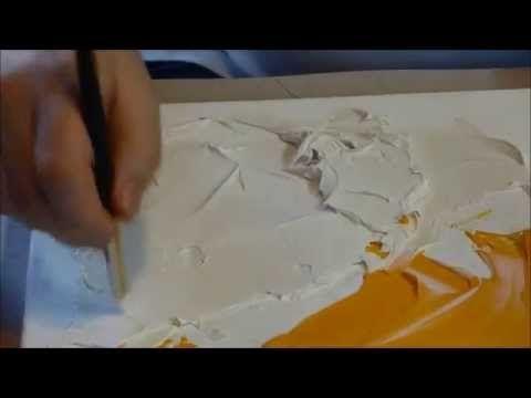 Comment utiliser le modeling paste sur une toile et quelle p te utiliser souple dure ou - Pate a bois comment l utiliser ...