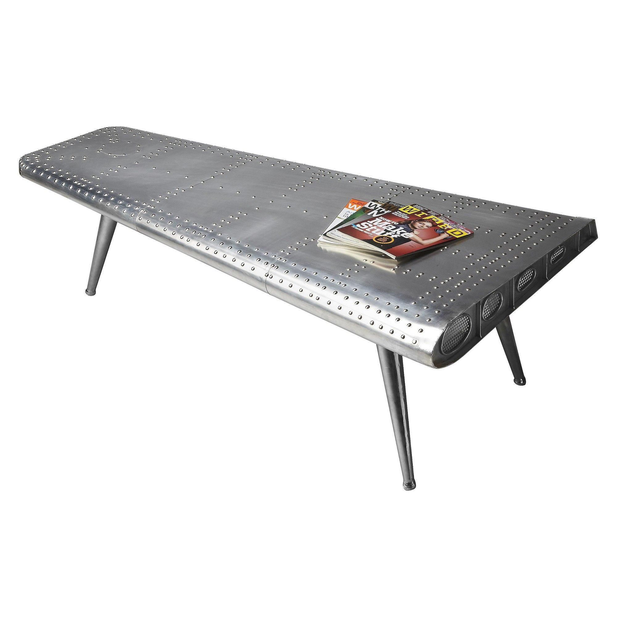 Console Table Metal Grey Butler Specialty Aviationcocktail