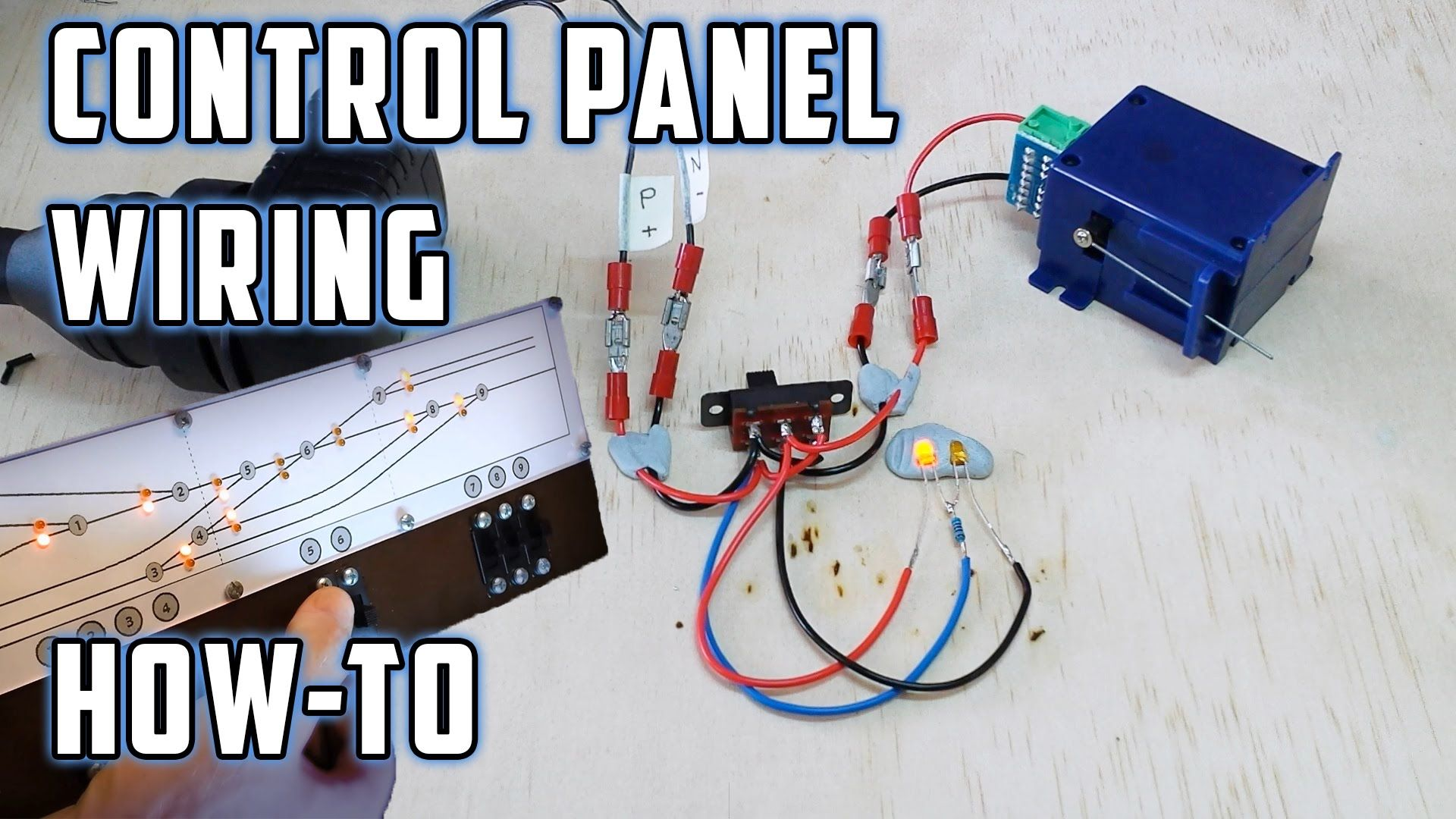 Control Panel Wiring (with LED's) - How To - Model Railroads N Scale Model