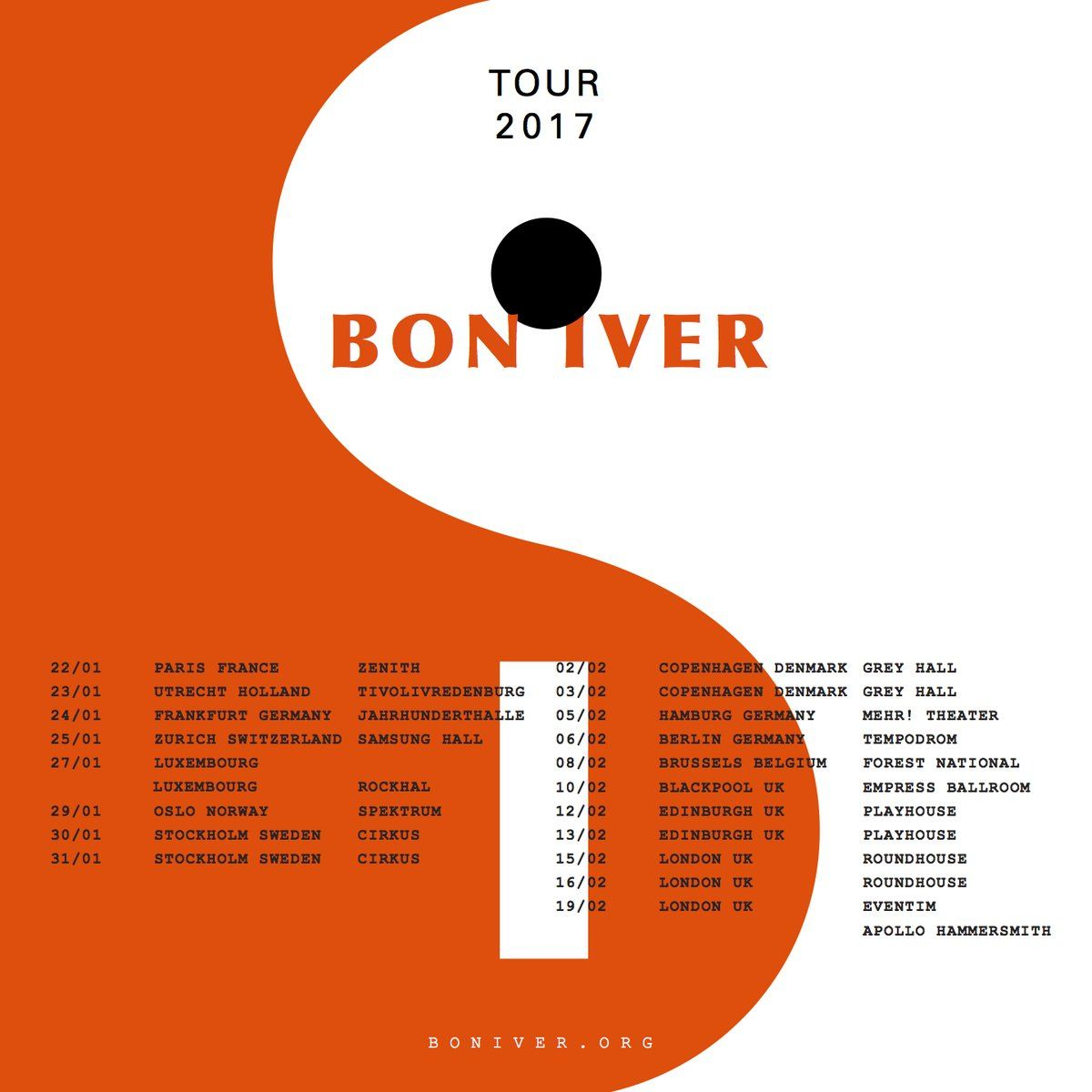 Bon iver announce new 2017 tour dates a colorful world tour bon iver announce new 2017 tour dates hexwebz Gallery