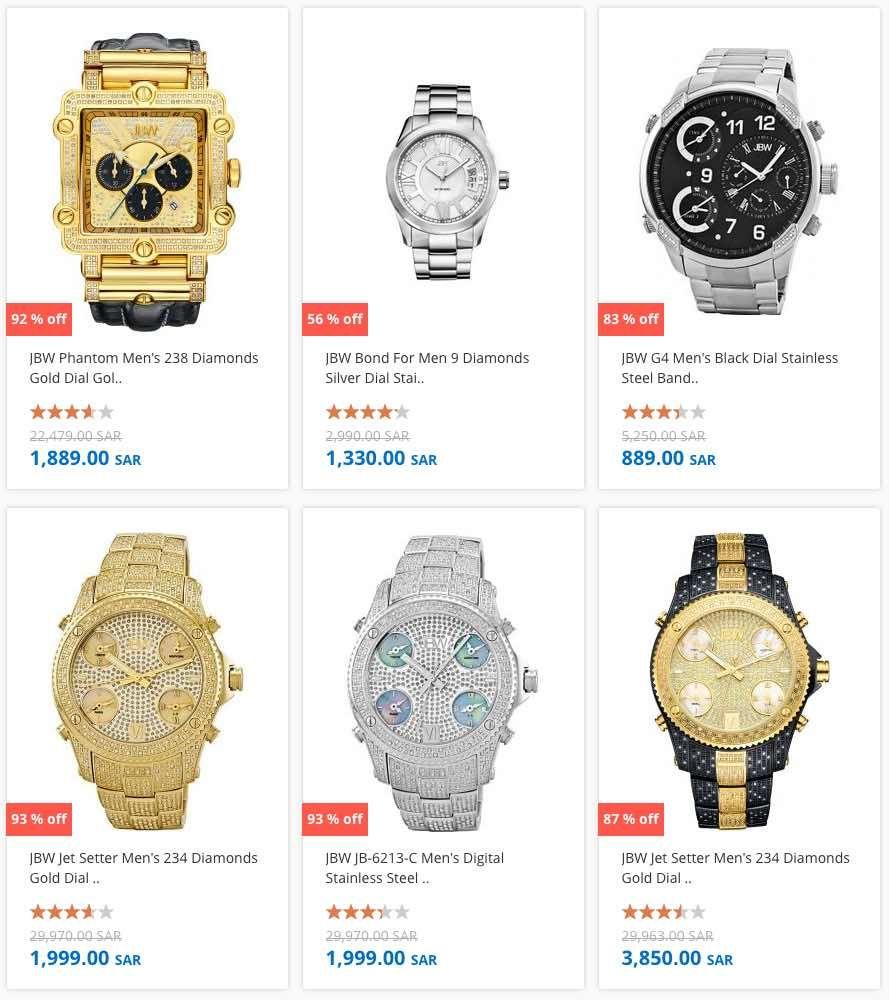 AMAZING 95% Off SALE on JBW Watches at Souq com Saudi Arabia