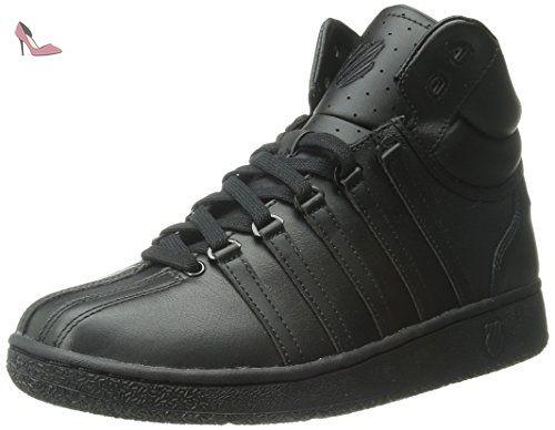 K-Swiss Classic VN Mid, chaussures de sport homme - Noir - noir,