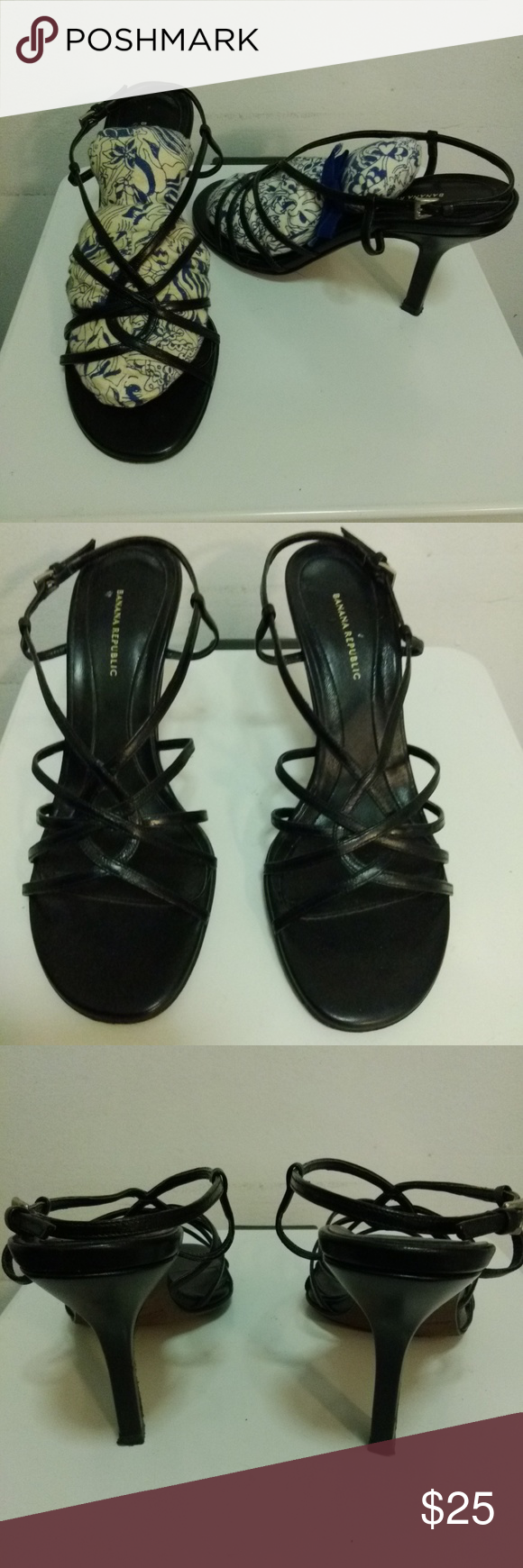 7c4c539209 STRAPPY SANDAL HEELS WORN ONLY A COUPLE OF TIMES Banana Republic, made in  Italy,