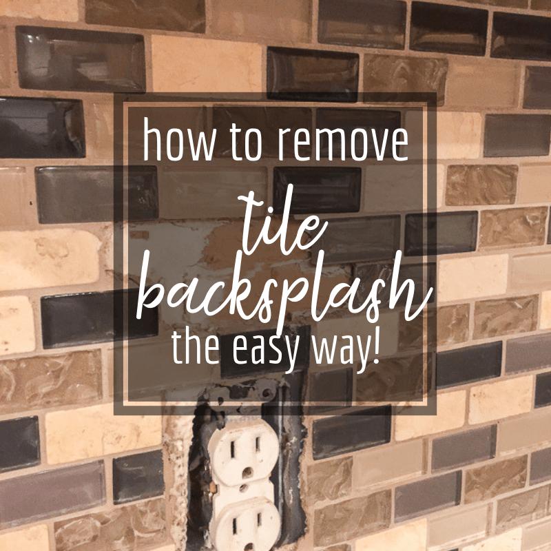 How To Remove Tile Backsplash Like A Pro Remove Tile Backsplash Backsplash Cleaning Painted Walls