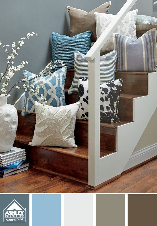 Like The Mix Of Patterns And Textures Accent Pillows Ashley Furniture Home