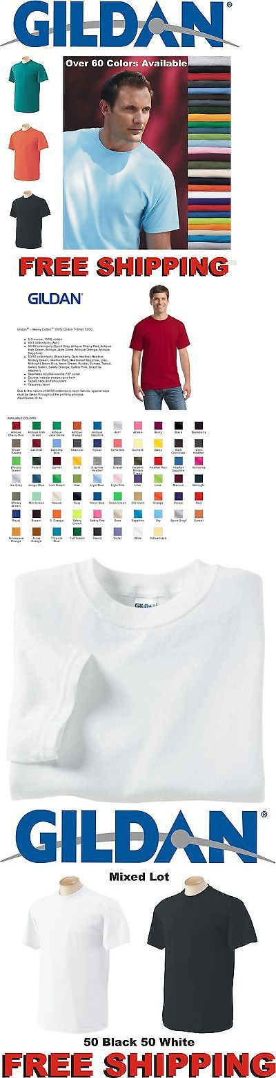 ce92ebaf6f86 Shirts 50976: 100 Gildan T-Shirts Blank Bulk Lots Colors Or 100 White Plain  Wholesale 50 -> BUY IT NOW ONLY: $164.99 on eBay!