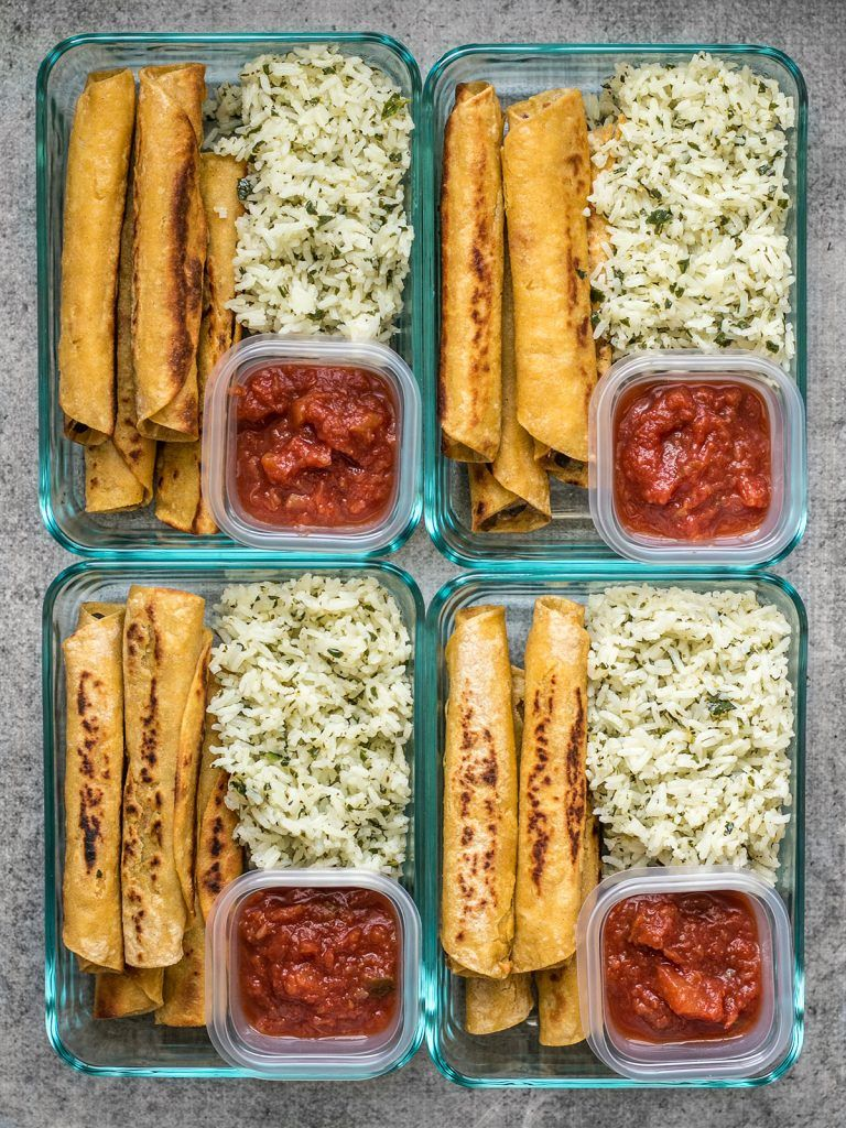 Creamy Black Bean Taquito Meal Prep images